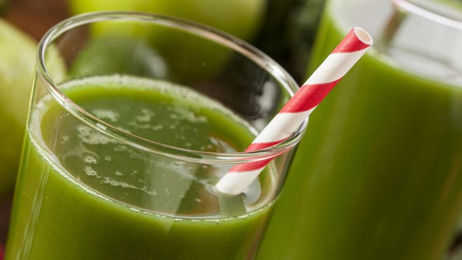 The secret to making a green drink that delivers all the health benefits of leafy greens without the bitter taste is to add some fruit for a touch of sweetness.