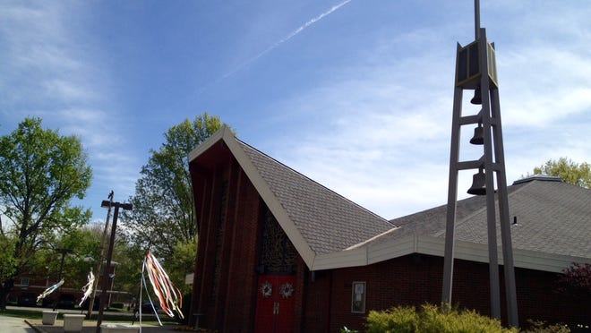 A proposal would merge St. Pius Catholic Church and St. Barnabas Catholic Church, above.