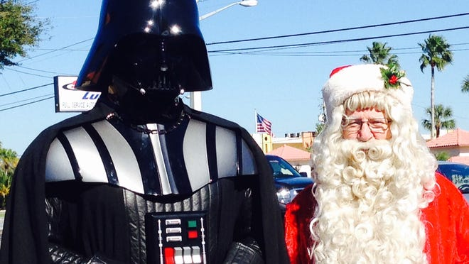 The Force is with Santa Claus (aka Charlie McGrath), even if Darth Vader is standing next to him. McGrath has played Santa since 1989.