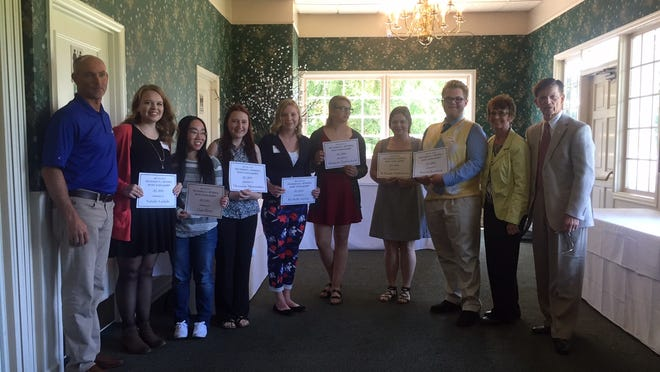 Seven students from Salem-Keizer schools received a scholarship from the Withnell family at Rudy's restaurant at the Salem Gold Club on Thursday.
