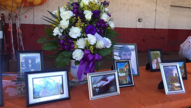 Friends remember Cody Ellingsworth at a car show at Les Schwab on Sunday, June 7.