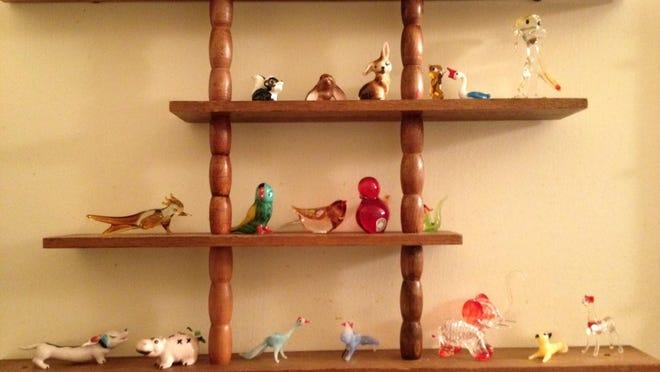 A variety of Rachel Rausch's glass animals.
