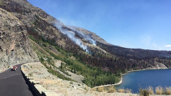 The Reynolds Creek fire has created new views from Going-to-the-Sun Road.