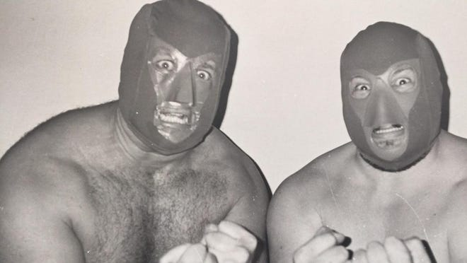 Ron Shaw, left, and A.J. Petrucci were The Masked Executioners.