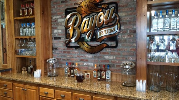 Bayou Rum's tour finishes at the Bayou Rum bar, where