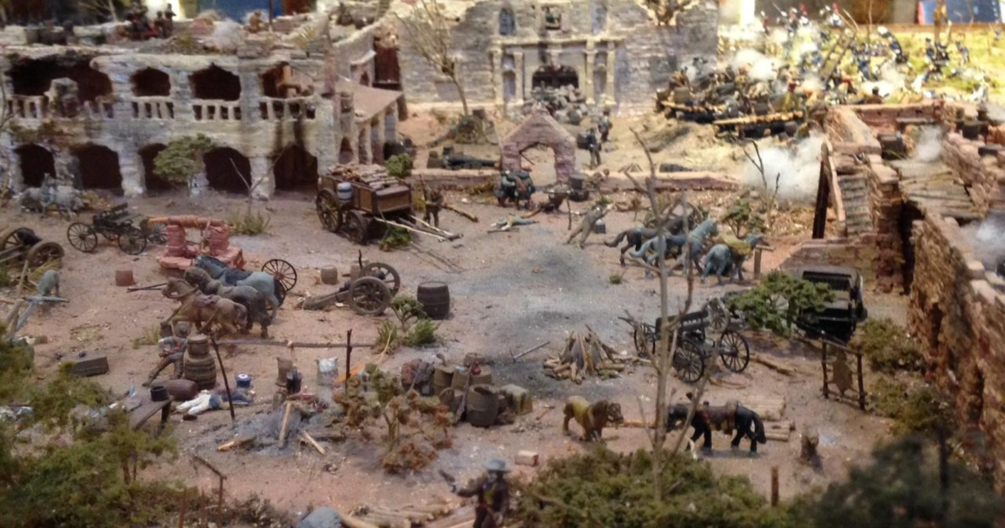 'Museum scale' Alamo diorama may be 'too big for Texas'