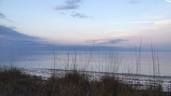 Looking out on the Gulf from Alligator Point home featured on HGTV's Beachfront Bargain Hunt.