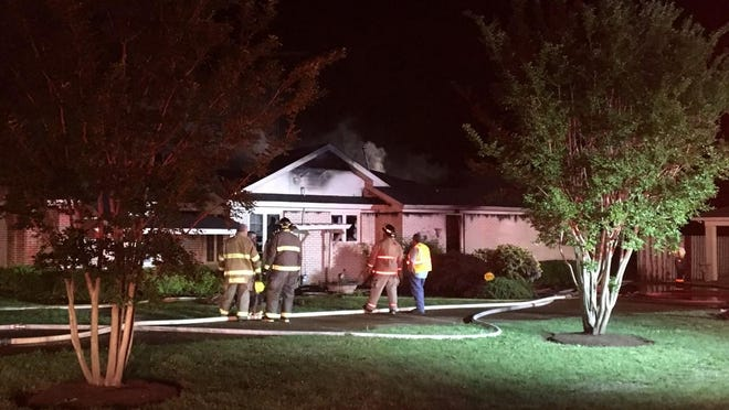 Multiple departments responded to a fire Thursday evening in Humboldt, but the home was engulfed in flames when crews arrived.