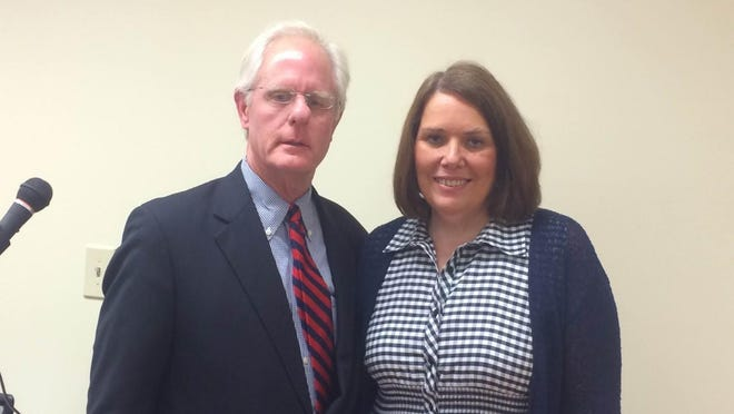 JCIL Board Treasurer Bart Smith and Executive Director Beth James pose at the celebration of the signing of the Americans with Disabilities Act.
