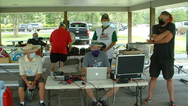 Azalea Coast Amateur Radio Club recently participated in annual Field Day exercise.