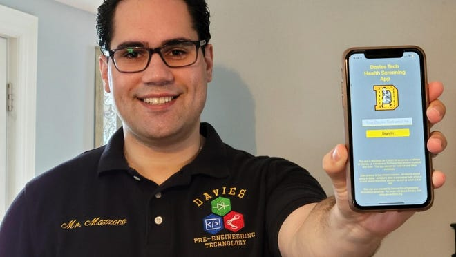 Joe Mazzone, a computer and software engineering instructor at the William M. Davies Jr. Career & Technical High School, worked with his students to develop a health-screening app for back-to-school.