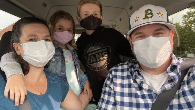 The Konz family is masked up and ready to start another school year. Parents Jim and Dina Konz are happy the kids can go back to school. Their experience with distance learning this spring was frustrating.