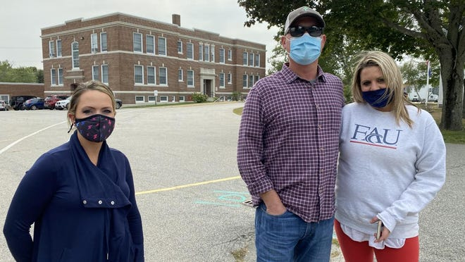 SAU 90 parents Nicole Wentworth, Scott Marceau and Abbey Marceau say they wish the school district would move towards full-time in-person learning, but school officials say they are moving as fast as they can.