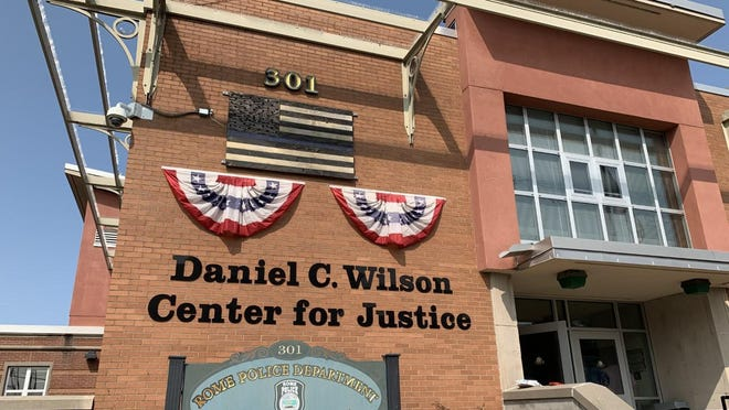 The justice center in Rome, New York.