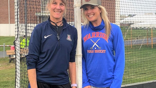 Former Portsmouth and Marshwood high school field hockey coach Lisa Truesdale, left, has joined Heidi Hand's staff at Winnacunnet High School. Hand, right, played for Truesdale at Portsmouth, helping the Clippers to the 2003 state semifinals. Hand also served as Truesdale's assistant for three years at Marshwood.