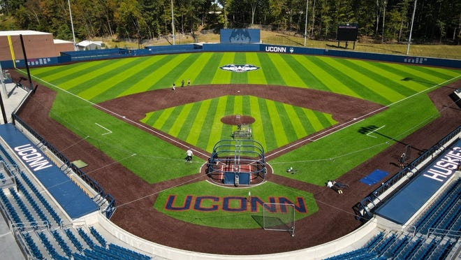 The UConn baseball team will be playing in their new, long-awaited stadium this season. Elliot Ballpark's field turf will give the Huskies a chance to play at home during the rainy months of March and April.