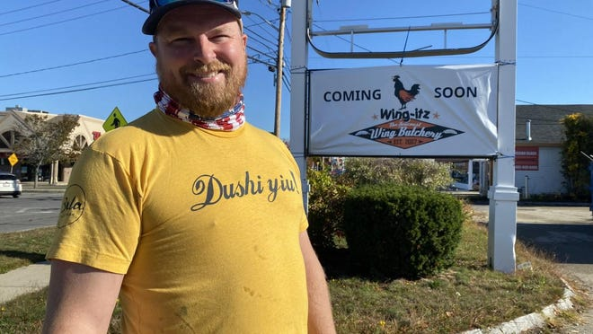 Wing-Itz owner Derek Fisher is opening his fourth location at the former Burger King space on Route 1.