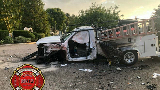 Two drivers were taken to South Shore Hospital after a Rockland crash.