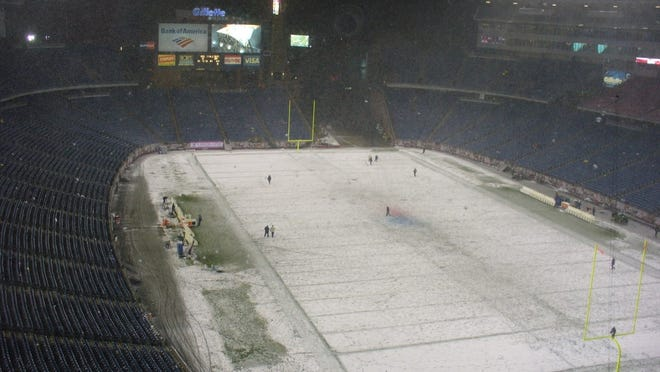 Gillette Stadium in Foxboro is shown here on Oct. 18, 2009 after the New England Patriots and Tennessee Titans game.