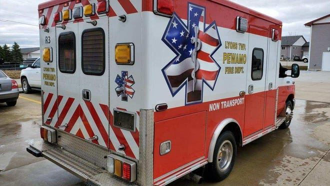 Life EMS Ambulance donated its 2010 Ford E350 ambulance to the Pewamo Fire Department earlier this year.