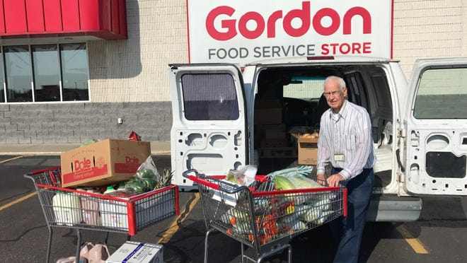 Bill Plumert, 89, of Hudsonville, was honored for 22 years of volunteering for the Holland Rescue Mission. He was responsible for stopping by local grocery stores once a week to pick up excess food for the Mission to use. Plumert has retired from volunteer work to care for his wife and due to the COVID-19 health risks.