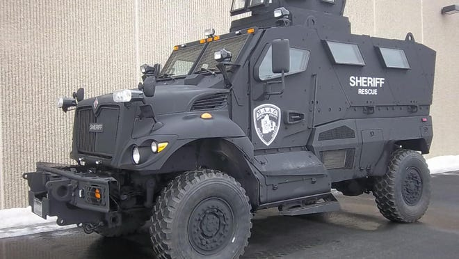 The Dakota County (Minn.) sheriffs office this summer received the state's first MRAP used by its SWAT unit of about 35 officers. The Shawano County sheriff and his Republican opponent in next week's election are deeply divided over a proposal to acquire a similar vehicle for the Sheriff's Office.
