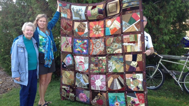 Pat Flaherty of Baileys Harbor was the Grand Prize winner of the Baileys Harbor Historical Society Community Quilt. A total of $1,500 was raised.