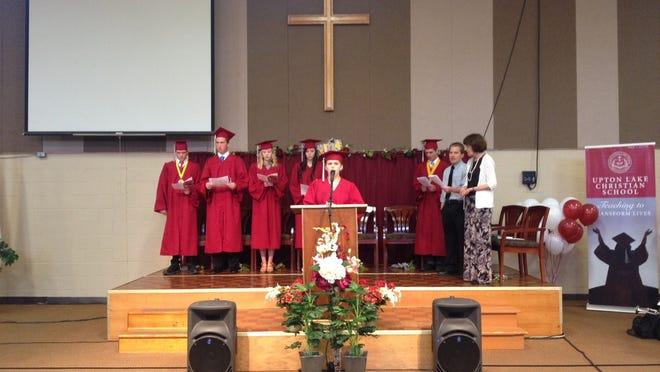Upton Lake Christian School students graduated Saturday.