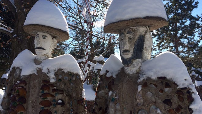 Fred Smith's Wisconsin Concrete Park near Phillips is open all year. Even covered with snow, the sculptures are spellbinding.