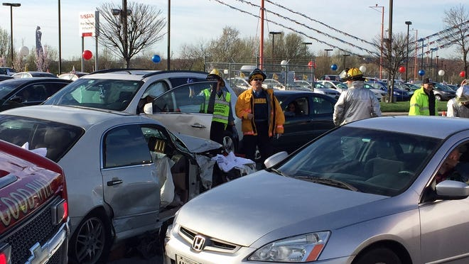 This multi-car crash was in a series of crashes on North Du Pont Highway (U.S. 13) at Christiana Road (Del. 273) that sent seven people to Christiana Hospital.