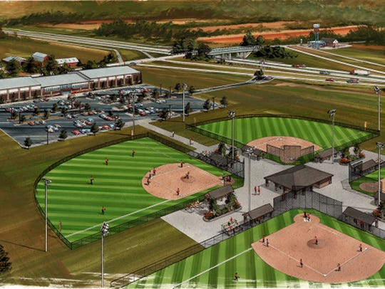 A rendering from 2016 shows the Turnin2 softball and