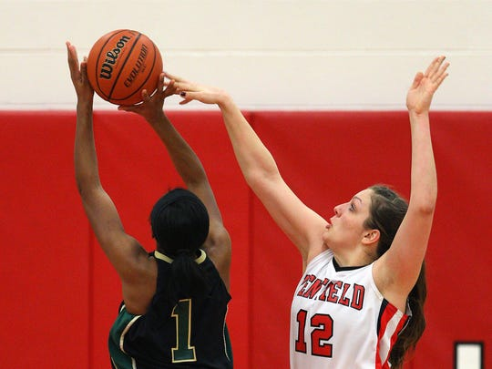 When they were both Section V stars, Margot Hetzke (12) of Penfield was a rival of Cierra Dillard and Gates Chili.