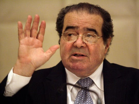 Supreme Court Justice Antonin Scalia speaks to the State Bar of Texas at its annual meeting in Dallas in a June 2009 file image. Scalia died on Saturday, Feb. 13, 2016.
