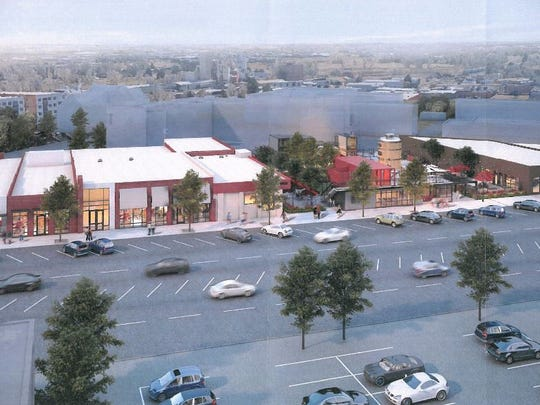 The proposed Exchange would transform the 200 block of North College Avenue into retail, restaurants, offices and plaza.
