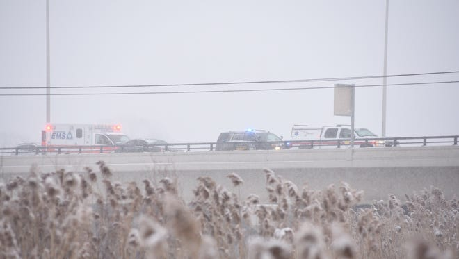 No  one was injured in a crash on westbound Interstate 94 near Water Street.