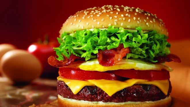 Red Robin gourmet burger.