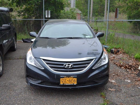 This stolen Hyundai was recovered in the Bronx
