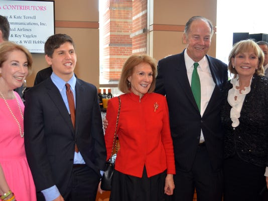 Lt. Gov. Kim Guadagno was among those on hand Sunday as the New Jersey Symphony Orchestra, the Kean family and members of the state's arts community at the New Jersey Performing Arts Center honored Gov. Thomas Kean. She'll attend another event marking Kean's 80th birthday today. (Governor's Office)