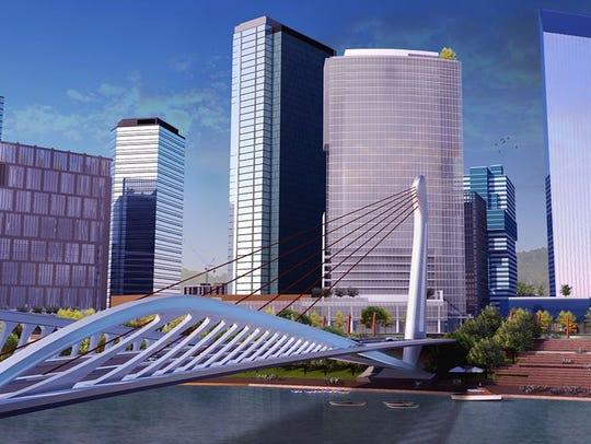 An image showing a bridge B. Edward Ewing envisions