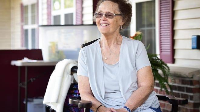 Kathy Gavin is a resident at the Terrace at Woodland, an assisted living facility. Like other assisted living residents, she was stuck under the same no-visitors policy as nursing homes for months. Now visitation is allowed outdoors under tightly controlled circumstances at her facility.