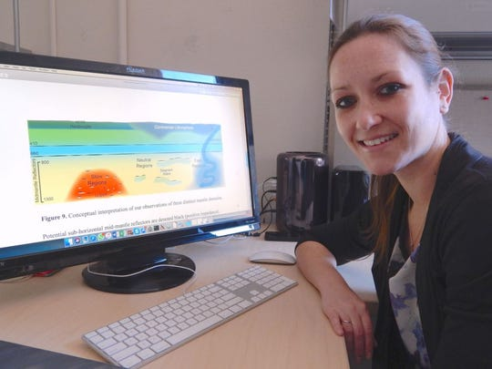 "Lauren Waszek, NMSU assistant professor of physics, authored a paper recently published in ""Nature Communication"" analyzing why slabs deep in the Earth become trapped at certain depths."