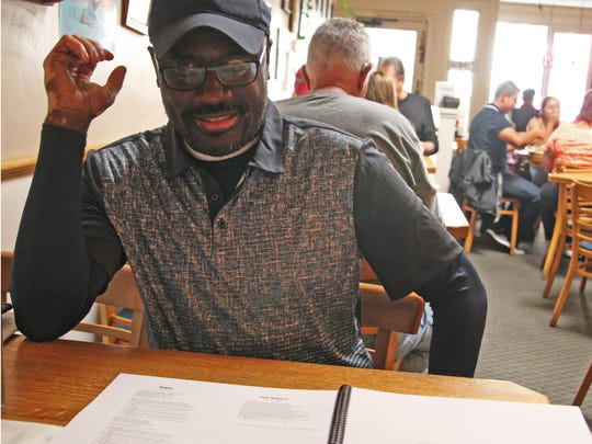 Composer John Wineglass reviews his score and explains its genesis at Old Monterey Cafe