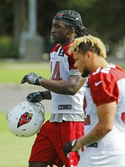 Cardinals linebacker Markus Golden at practice on Tuesday.