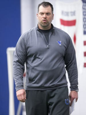 Ryan Grigson, during Colts practice, at Indiana Farm Bureau Football Center, Indianapolis, Tuesday, May 17, 2016.