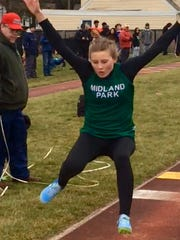 Midland Park's Melissa Lein was 24th in triple jump