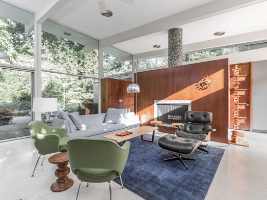 home designed. One of the current owners worked with Evans Woollen A three bedroom modern by man behind Central Library addition