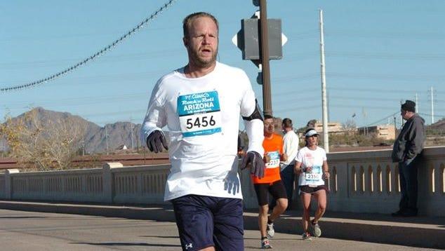 Me toward the end of the marathon.