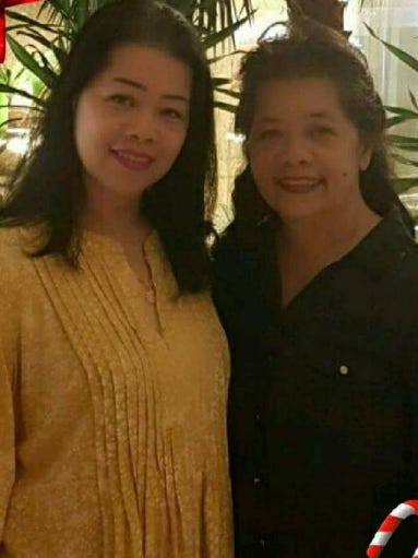 Patricia Certeza, is shown with her twin sister Mary