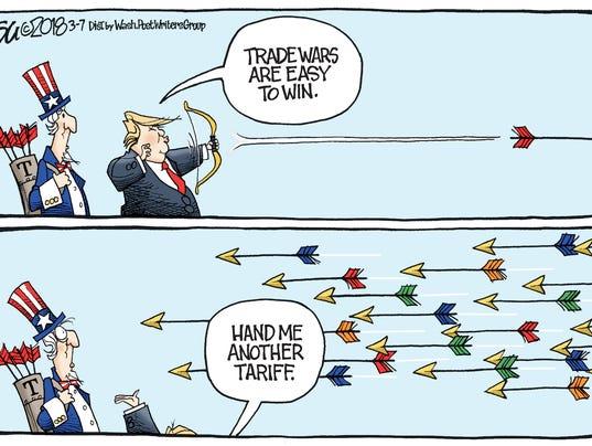 Image result for cartoons trump tariffs canada