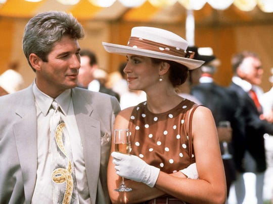 Richard Gere and Julia Roberts demonstrate undeniable chemistry in Pretty Woman.